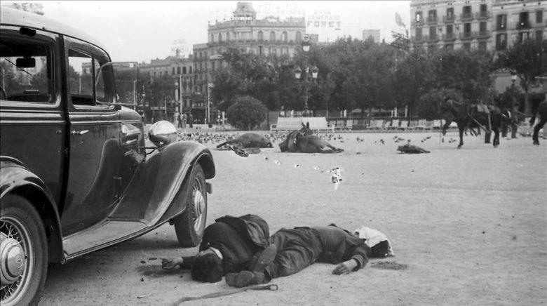 Guerra Civil Masacre en Plaza Cataluña