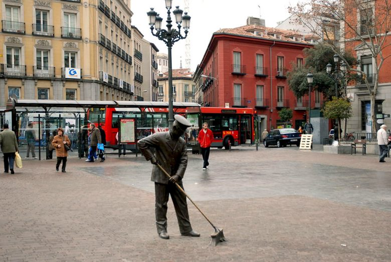 barrendero en Madrid